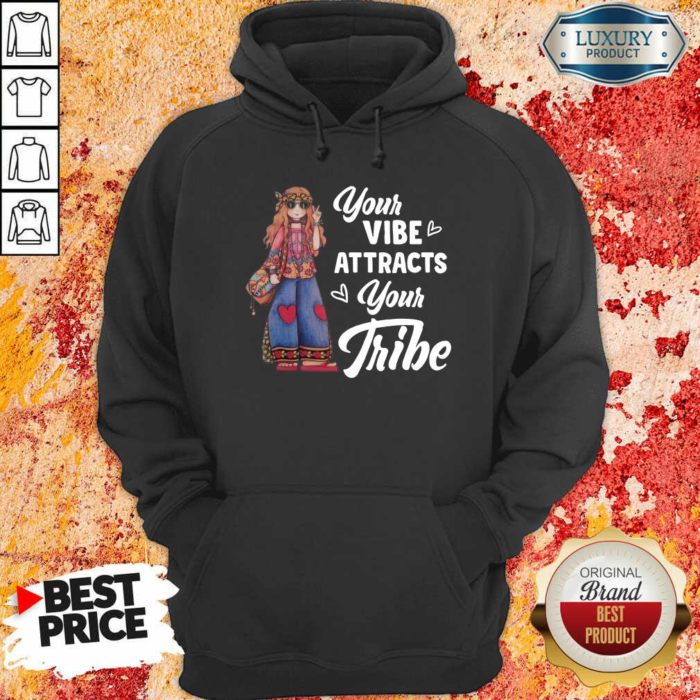 Hippie Girl Your Vibe Attracts Your Tribe Hoodie