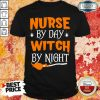 Nurse By Day Witch By Night Halloween Shirt