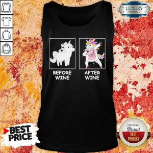 Unicorn Dabbing Before Wine And After Wine Tank Top